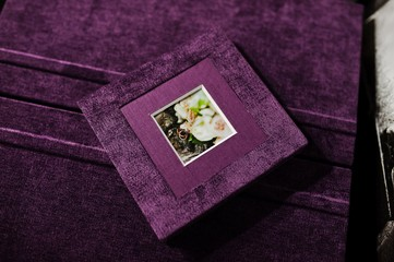 violet velvet photo book and album