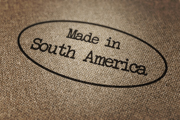 Made in South America Stamp