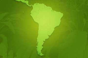 South America Green Continent Background