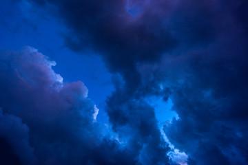 Wall Murals Night dark clouds before a thunder-storm