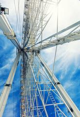 Ferris wheel and beautiful sky background