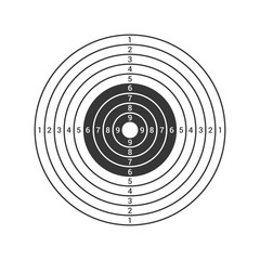 Shooting Target Icon Isolated on White Background. Vector