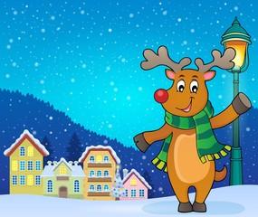 Stylized Christmas deer theme image 3