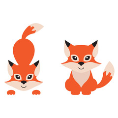 cartoon fox set
