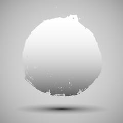 gray grunge circle design template shape. Vector illustration