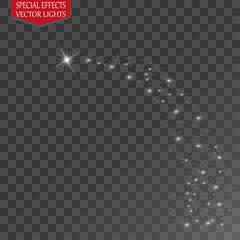 Glow light effect. Star burst with sparkles. Vector illustration