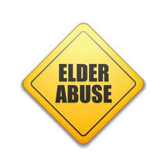 Elder Abuse illustration sign