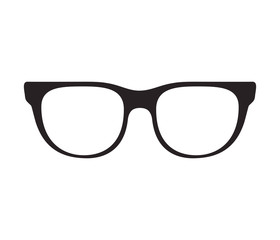 glasses optical accessory icon over white background. vector illustration