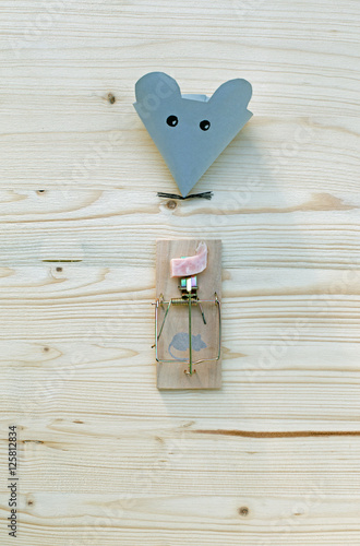Maus Mausefalle Mit Speck Fängt Man Mäuse Stockfotos Und