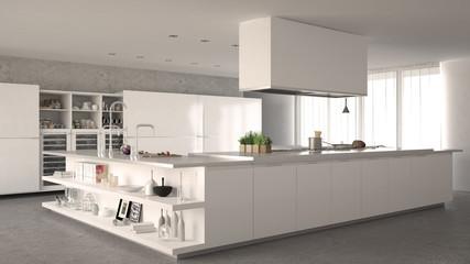 White minimalistic kitchen