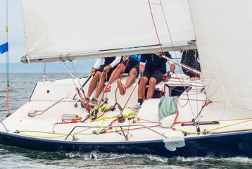 Boat competitor of sailing regatta.