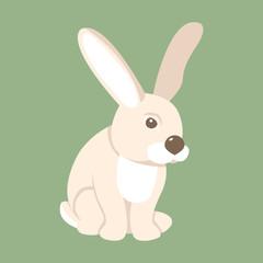 rabbit vector illustration style Flat
