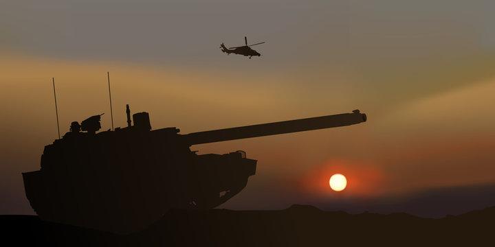 Char d'assaut - Bataille - Crépuscule