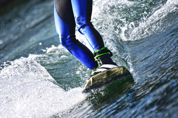 Wakeboarding as extreme and fun sport