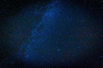 Night starry sky landscape