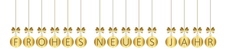 Banner Frohes Neues Jahr (Gold wb)