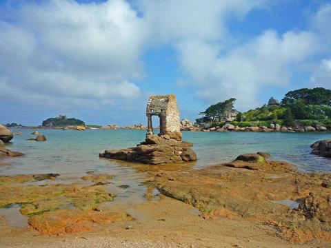 Bretagne, Ploumanach, côte de granit rose