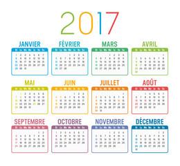 Calendrier Agenda 2017