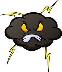 Angry Cloud Cartoon