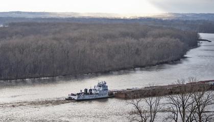 Tugboat on Mississippi