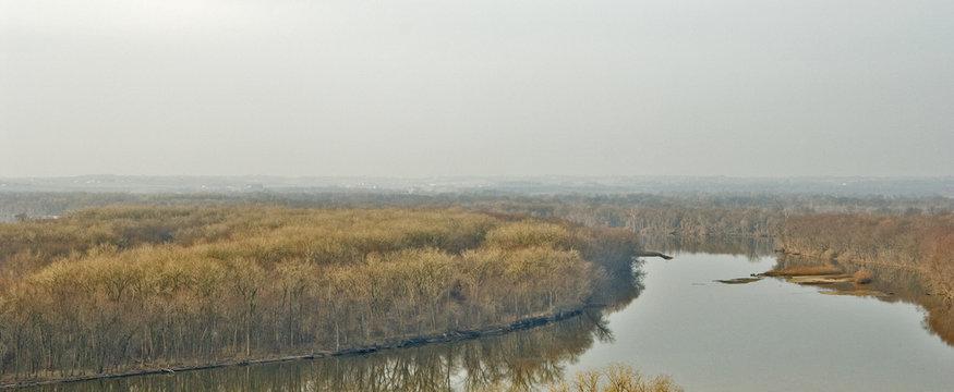 Mississippi River in Winter