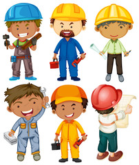 People doing different types of jobs