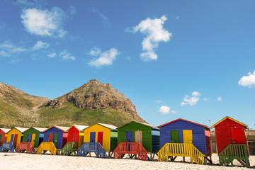 Beachhouses at Muizenberg Beach, Cape Town, South Africa
