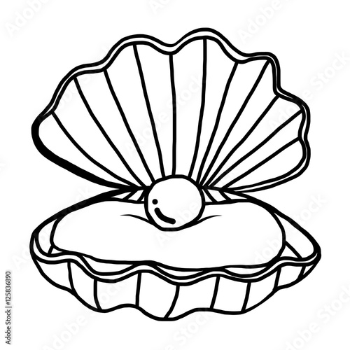 pearl shell cartoon vector and illustration black and white hand rh us fotolia com pearl border clip art pearl clip art black and white