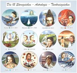 Die 12 Sternzeichen.Tierkreiszeichen.Astrologie.Horoskop