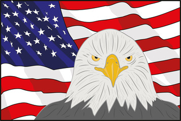 A background featuring American eagle and stars and stripes background. on the feast day of the independence of America. vector illustration
