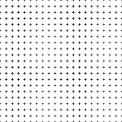 White background with seamless black crosses for design. Vector