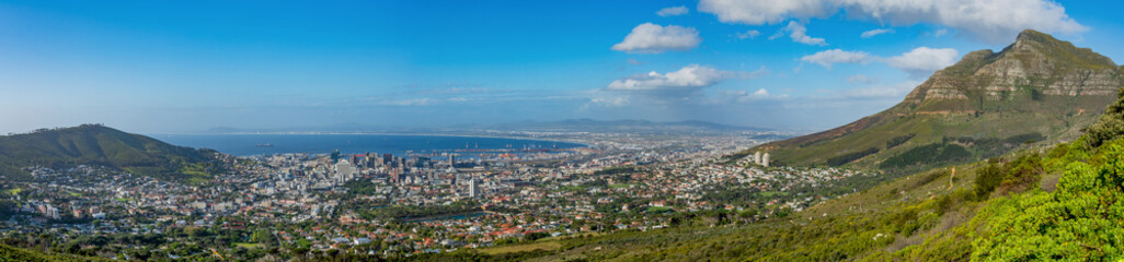 Cape Town Panorama from under Table Mountain