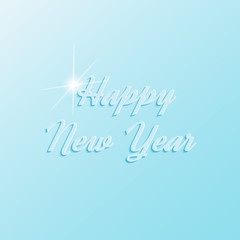 Happy New Year. Vector image with inscription happy New year.
