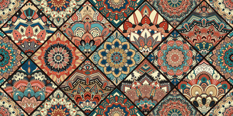 Intricate Tile Pattern Flower