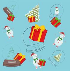 festive background. New Year Christmas. vector illustration.