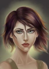 Portrait of a Woman, digital painting