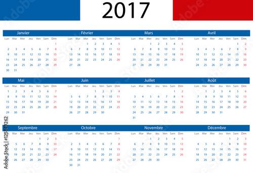 Calendario Frances.Calendario Vectorizado 2017 En Frances Stock Image And