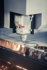 Laser cutting metal