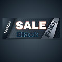 Black friday sale. Colorful hi-tech banner vector set