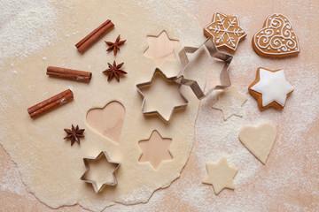 Preparation of Christmas cookies