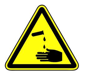 Acids Corrosive substances Symbol