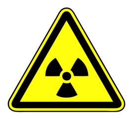 Radioactive signboard