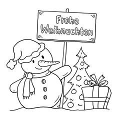 Schneemann Weihnachten Deutsch