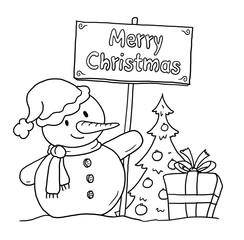Schneemann Weihnachten Englisch