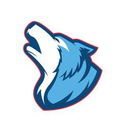 Howling wolf mascot