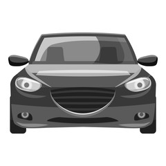 Car icon. Gray monochrome illustration of car vector icon for web