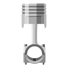 Automotive piston icon. Gray monochrome illustration of automotive piston vector icon for web