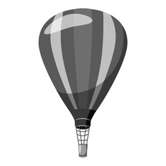 Balloon icon. Gray monochrome illustration of balloon vector icon for web