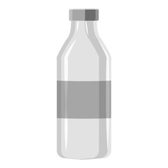 Bottle icon. Gray monochrome illustration of bottle vector icon for web