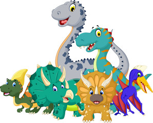 collection of Dinosaur cartoon